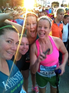 """Me and """"The Gam Squad"""" at the start of the Rock N' Roll Savannah Marathon!"""