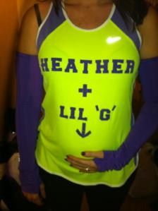 My shirt for race day...and my belly!