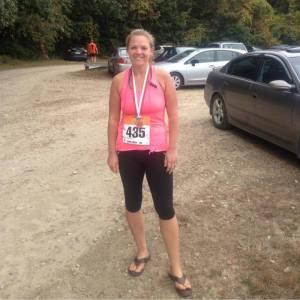 Meg at the Applefest Half Marathon