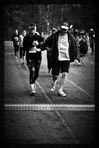 Kate and her Dad crossing the finish line at the Groton 5K in 2014!
