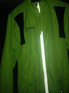 Brooks bright and reflective jacket
