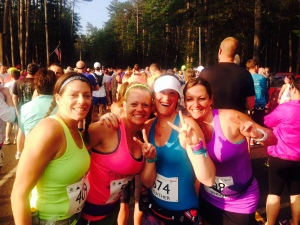 Me and the girls at the start line!