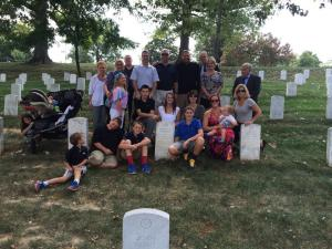 Most of my family visiting my Uncle Jeff's grave at Arlington National Cemetery last fall.